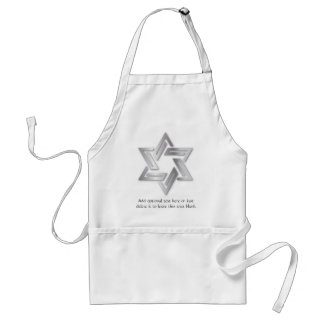 Silver Star of David Apron