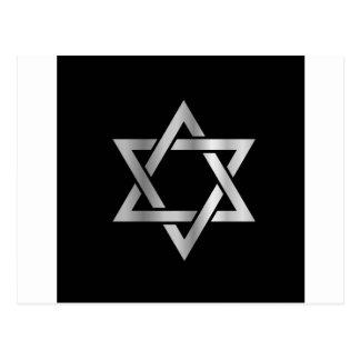 Silver Star of David- Jewish Postcard