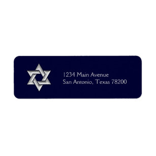 Silver Star of David on Any Colour Background
