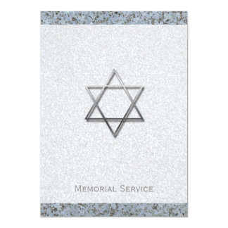 Silver Star of David Stone 1 Memorial Service Card