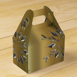 Silver Star on Gold Favor Box