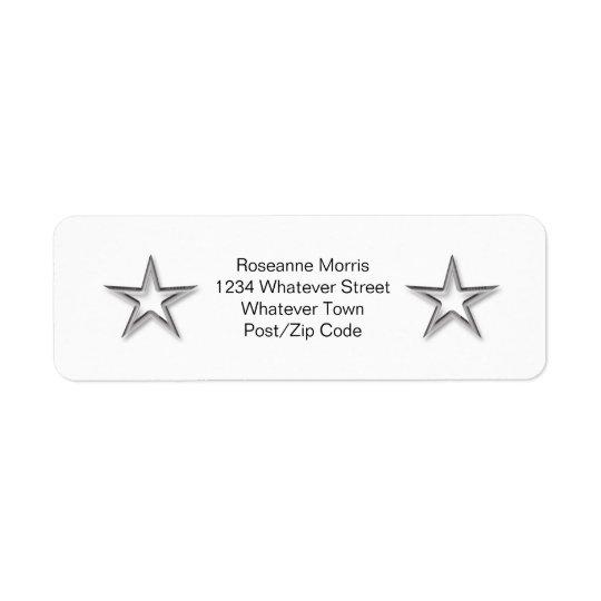 Silver Star Return Address Label