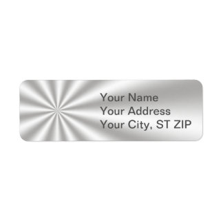 Silver Starburst Address Labels