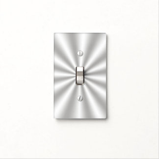 Silver Starburst Light Switch Cover