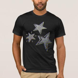 Silver Stars Christmas T-shirt