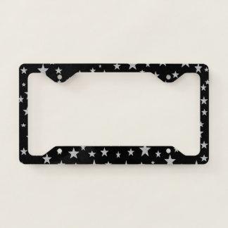 Silver Stars License Plate Frame