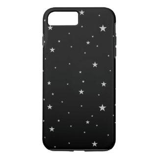 Silver Stars On Black iPhone 7 Plus Case