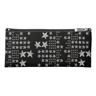 Silver Stars Pencil Case