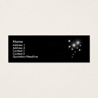Silver Stars - Skinny Mini Business Card