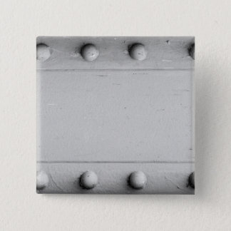 Silver Steel Layout with Bolts 2 Inch Square Button