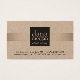 Silver Stripe Jewelry Designer Business Card