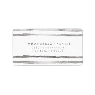 Silver stripes address label