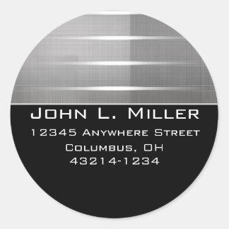 Silver Stripes Contemporary Return Address Labels