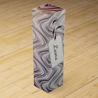 Silver stylish modern metallic wine gift box