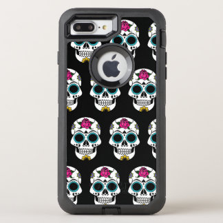 Silver Sugar Skull iPhone 7/8 Plus Otterbox Case