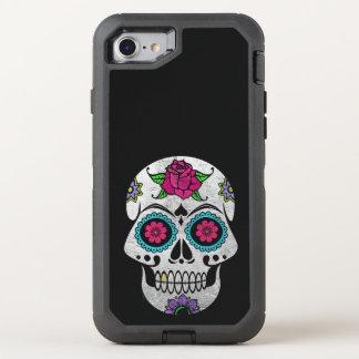 Silver Sugar Skull iPhone X Otterbox Case