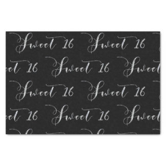 Silver Sweet 16 Sixteen ANY COLOR Birthday Party Tissue Paper