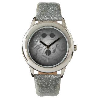 Silver Swirl Bowling Ball Watch