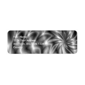Silver Swirl Return Address Label