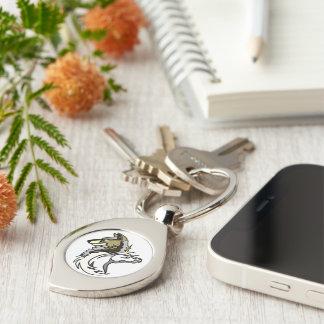 Silver Swirl Universal Logo Keychain