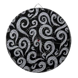 Silver Swirls Pattern Dartboard