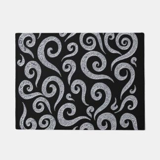 Silver Swirls Pattern Doormat