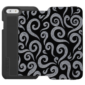 Silver Swirls Pattern Incipio Watson™ iPhone 6 Wallet Case