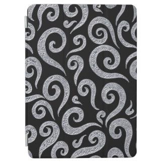 Silver Swirls Pattern iPad Air Cover