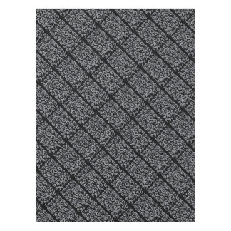 Silver Swirls Pattern Tablecloth