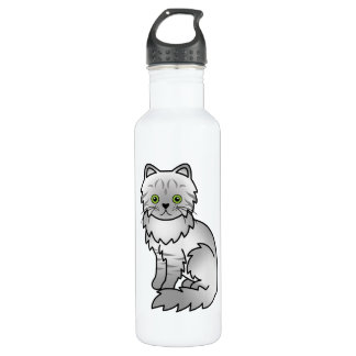 Silver Tabby Chinchilla Persian Cat 710 Ml Water Bottle