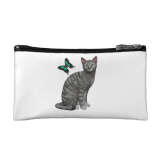 Silver Tabby Design Cosmetics Bags
