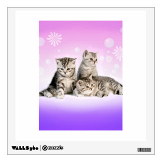 Silver Tabby Kittens Wall Decal