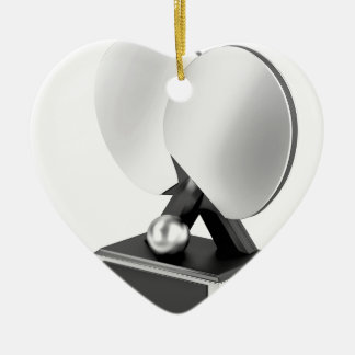 Silver table tennis trophy ceramic ornament