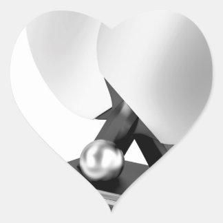 Silver table tennis trophy heart sticker