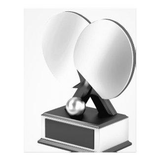 Silver table tennis trophy letterhead