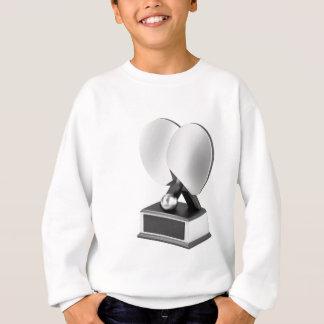 Silver table tennis trophy sweatshirt