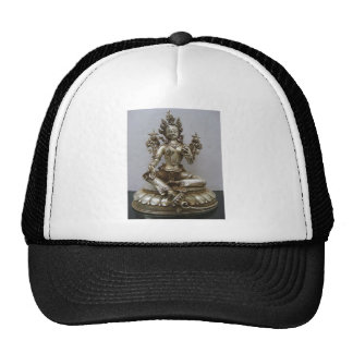 SILVER TARA BUDDHIST GODDESS HAT