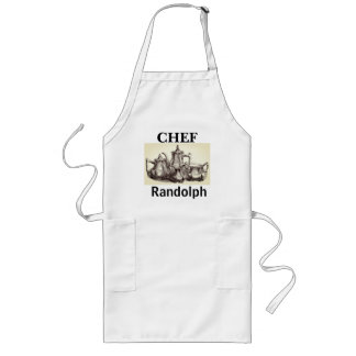 Silver-Tea-Set II_CHEF_Name-Template_Multi Sizes Long Apron