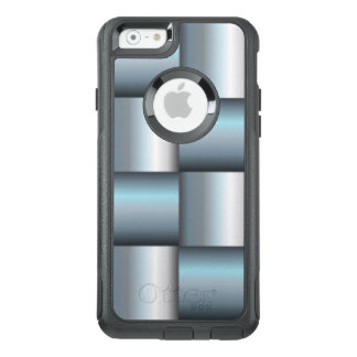 Silver & Teal Metallic Square Collage OtterBox iPhone 6/6s Case