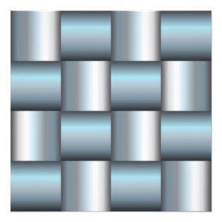 Silver & Teal Metallic Square Collage Photo Art