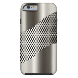 Silver Tech Mesh Chrome 2 Tough iPhone 6 Case