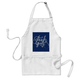 Silver Text Design- Thanksgiving Standard Apron