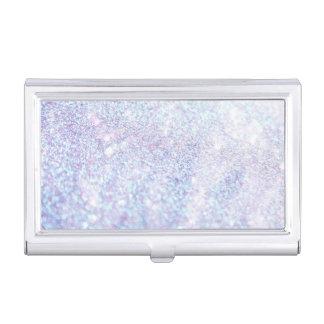 Silver Texture Glitter Business Card Holder