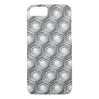 Silver Tiled Hex iPhone 7 Case