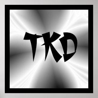 Silver TKD Poster Print