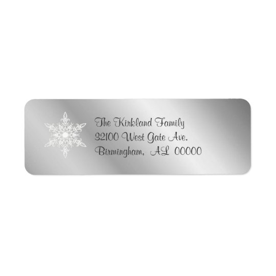 Silver tone Address Labels