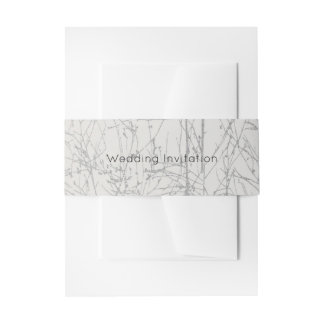 Silver 'Tree' Invitation Belly Band