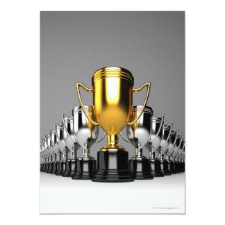 """Silver Trophys 3 5"""" X 7"""" Invitation Card"""