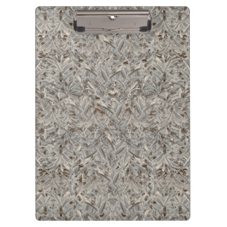 Silver Tropical Print Clipboard