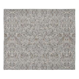 Silver Tropical Print Duvet Cover